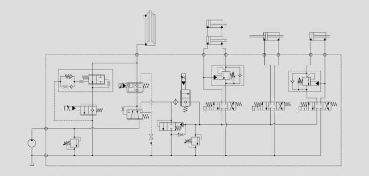 电动叉车应用方案-主机的阀组应用方案-济南欧科液压